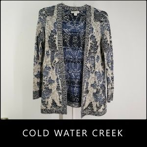 Coldwater Creek Woman  Open Front Cardigan Small
